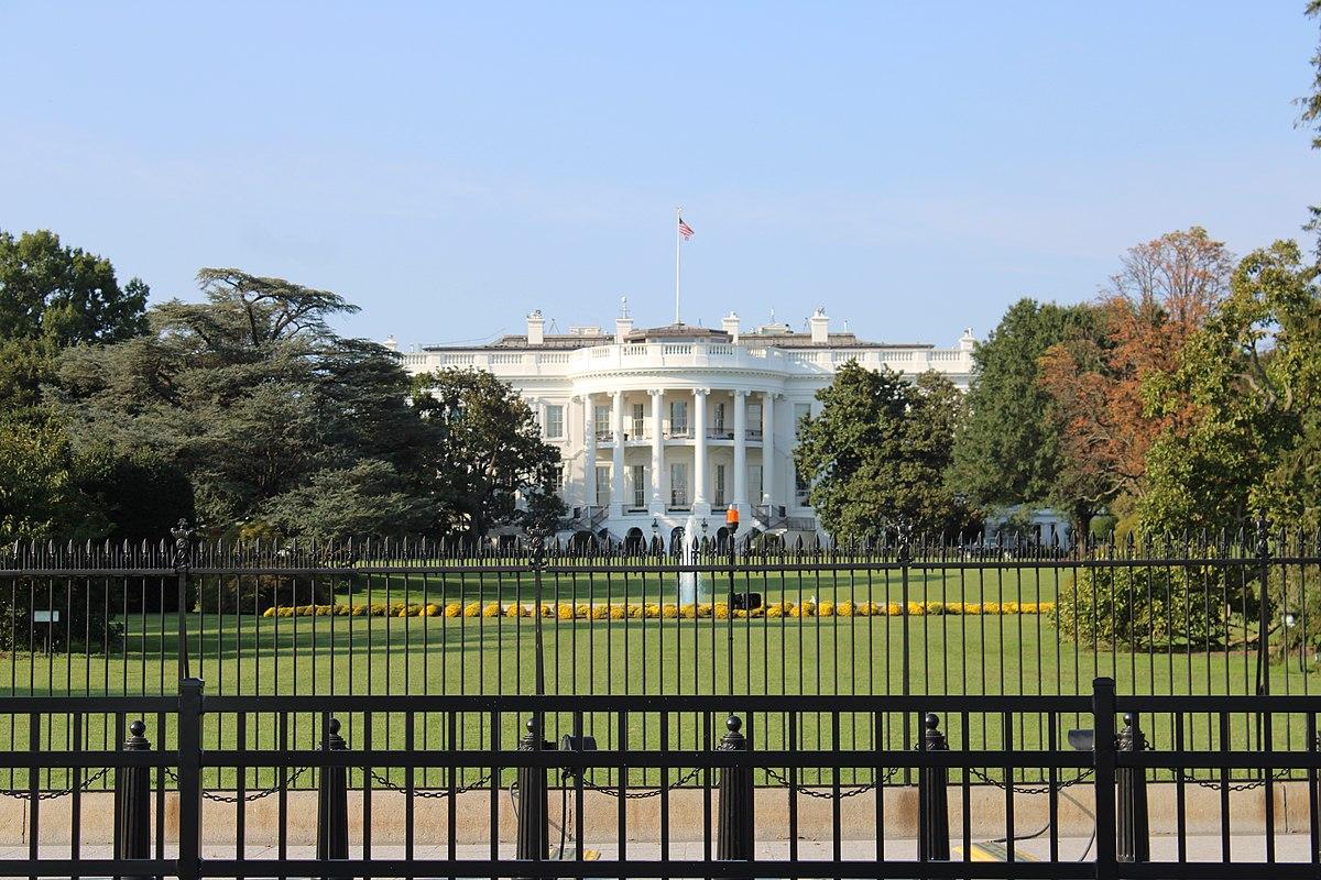 White House with fences; Biden's White House unity