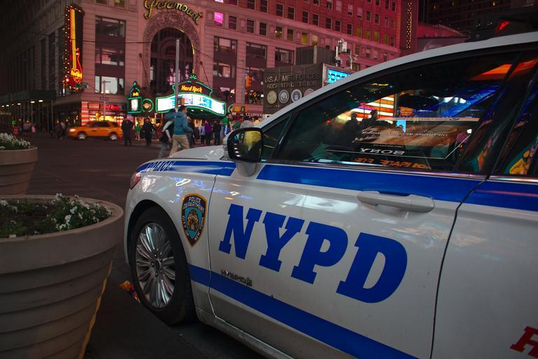 NYPD police cruiser; LGBT police