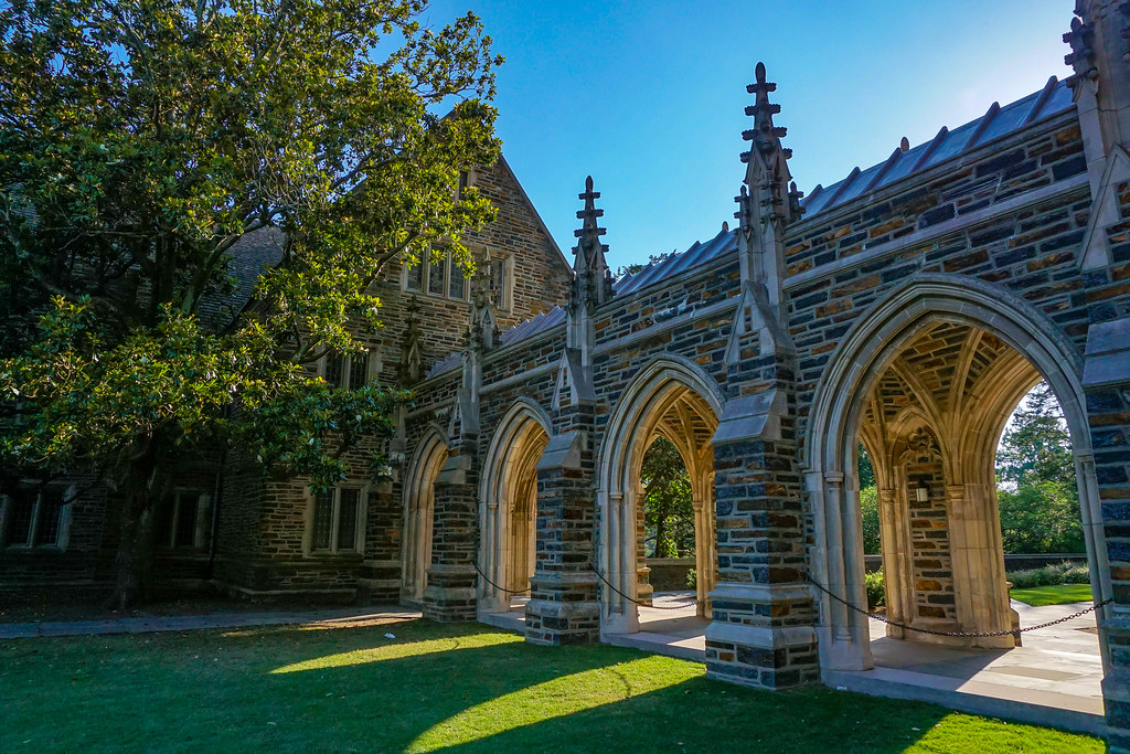Duke University campus arches; psychology two genders