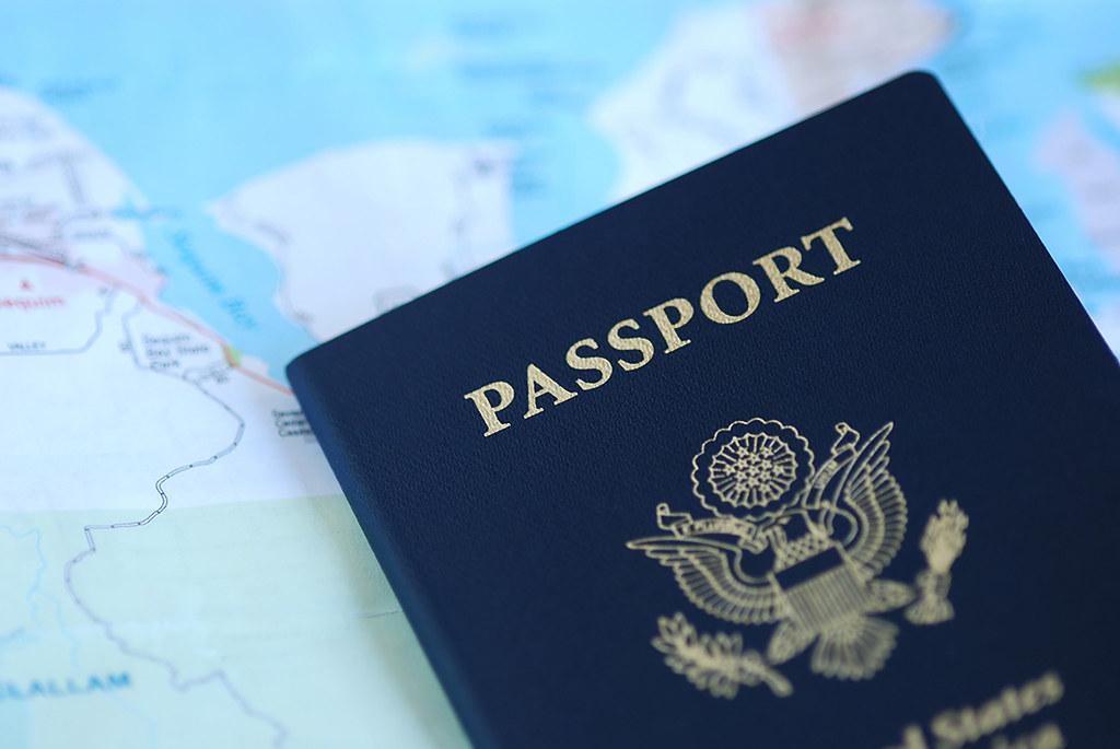Passport and map; Republican COVID passport
