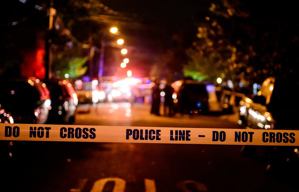 Police tape with lights; Minneapolis police shortage