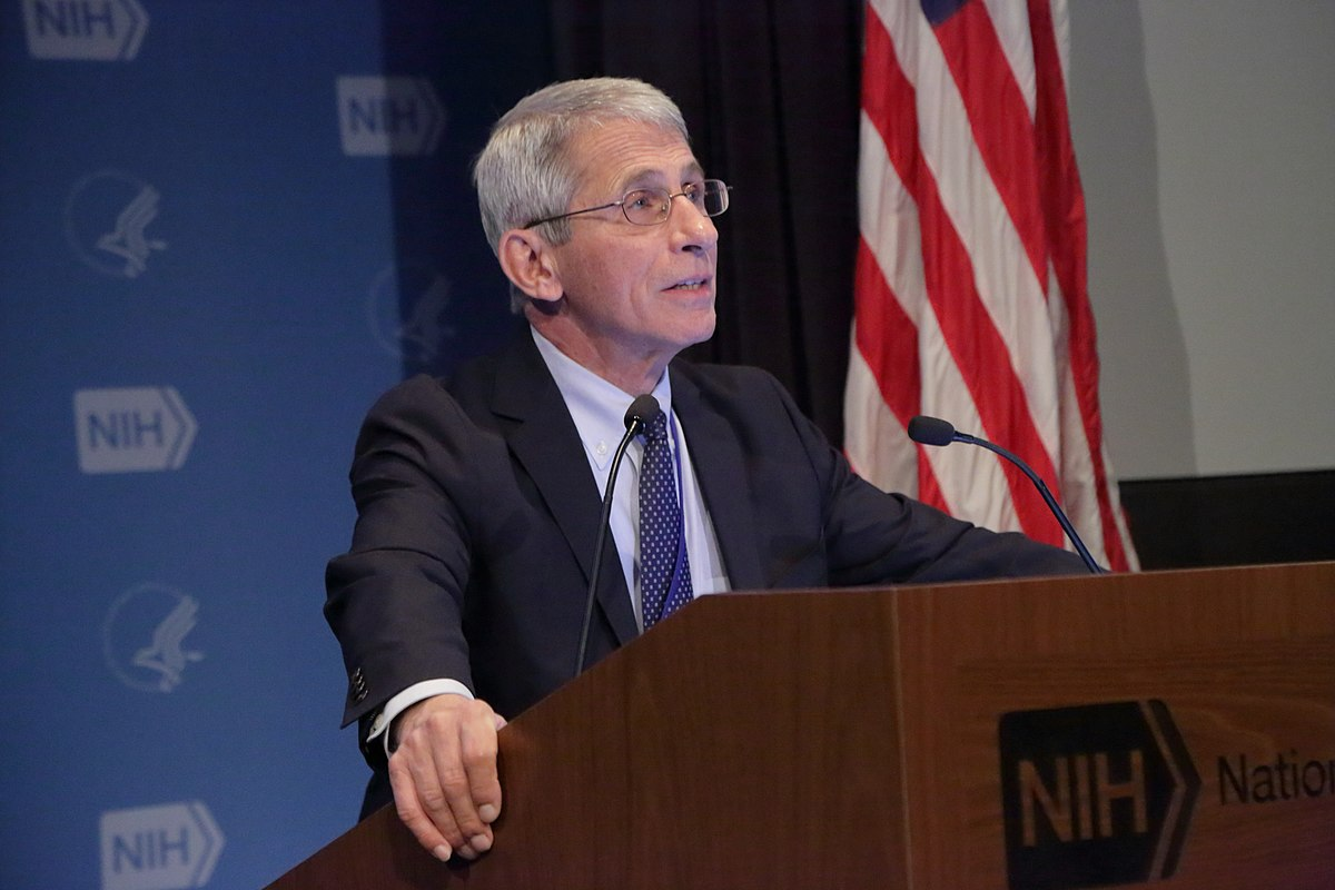 Dr. Anthony Fauci speaking; Fauci COVID email