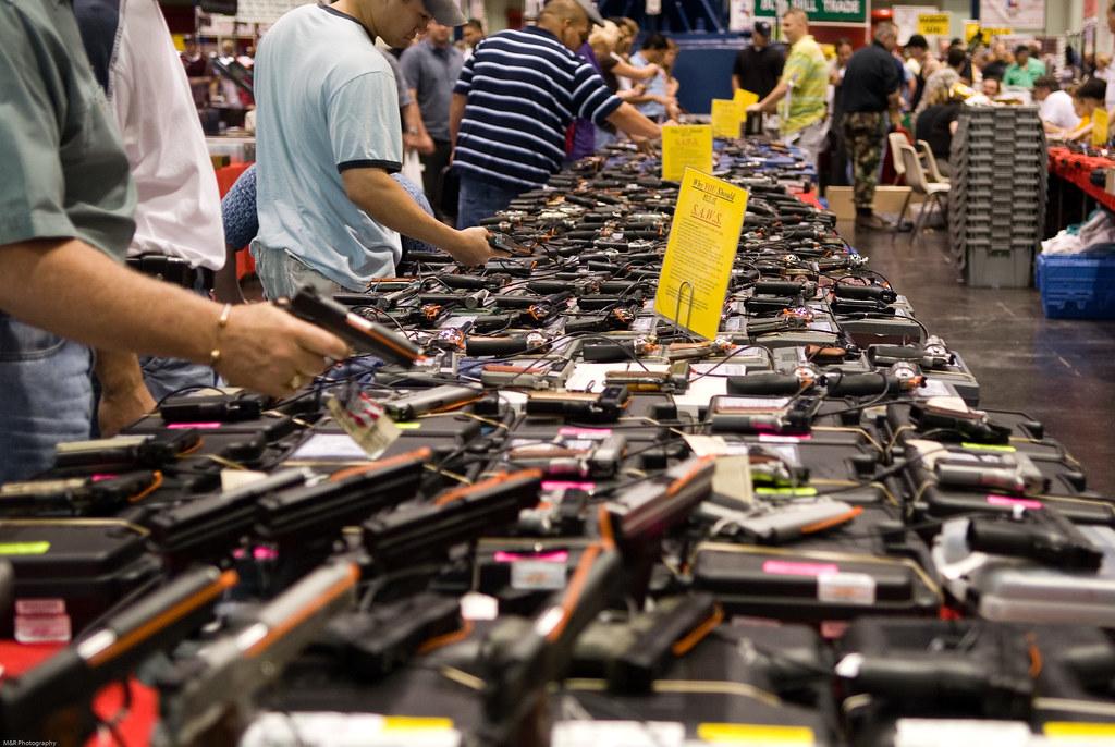Gun show; Biden gun owners