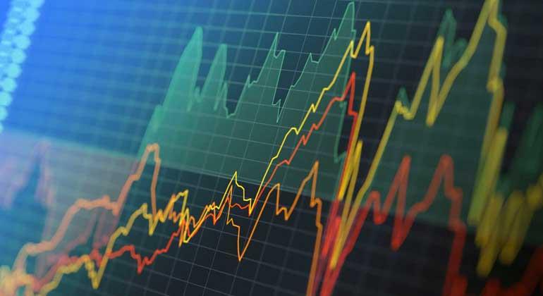 Graph of rising rates; Biden inflation increase