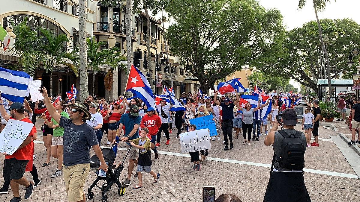 2021 Cuban protests in Naples, Florida; Biden internet Cubans