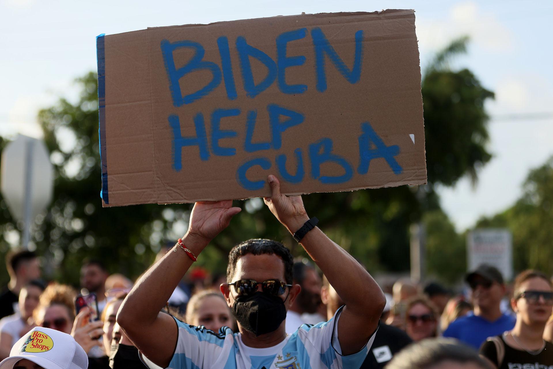 Cuba pro-freedom protests; Democrats communist Cuba protesters